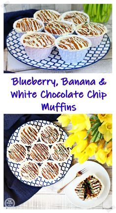 Blueberry, Banana Savory Snacks, Healthy Breakfast Recipes, Vegan Recipes Easy, Vegetarian Snacks, Chocolate Drizzle, White Chocolate Chips, Fruit Syrup Recipe, Passion Fruit Syrup, Pie Bird