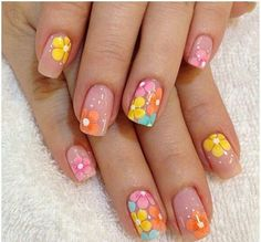 25 Delicate Flower Nail Designs Adding Lovely Blooms To Your Fingertips! nail art 5 minute - Nail Art 25 Delicate Flower Nail Designs Adding Lovely Blooms To Your Fingertips! Fancy Nail Art, Fancy Nails, Cute Nail Art, Trendy Nails, Flower Nail Designs, Nail Designs Spring, Toe Nail Designs, Nails Design, Easter Nail Designs