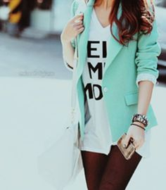 oh my god I need this mint blazer. OBSESSED.