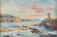 Eliseo Meifrén Roig. Tosa de Mar, Girona. Óleo sobre tabla. Sin firmar. 32 x 48 cm. Ausa, 375. Ciro ediciones, 61.