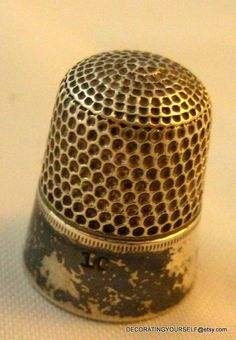 Vintage Simons Sterling Silver Thimble Size 10 Hand Sewing Quilting