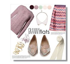 """""""Granny Flats"""" by cheryl-82 ❤ liked on Polyvore featuring Nails Inc., Monki, Missoni, Indigo Collection, River Island, Sophia Webster, H&M, women's clothing, women's fashion and women"""