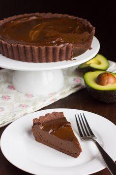Avocado Chocolate Mousse Pie