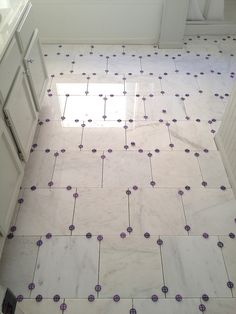 Blogger Bryn Alexandra was so meticulous in laying tile with tiny spacers, but the results show how the effort paid off!