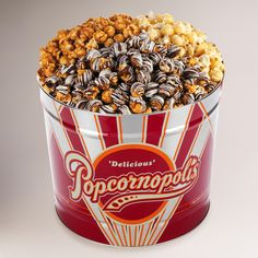 2 gallon 3 way premium gourmet popcorn tin One of my favorite gifts to receive...