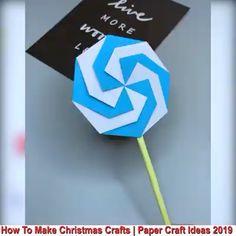 Beautiful Paper Crafts - Creative ideas about paper crafts. Diy Crafts Hacks, Diy Crafts For Gifts, Diy Arts And Crafts, Crafts For Kids, Paper Crafts Origami, Diy Origami, Paper Flowers Diy, Flower Crafts, Geometric Origami