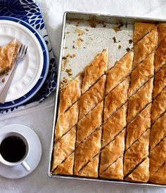 Australian Gourmet Traveller classic dish recipe for baklava. I think I might use more almonds in my version... perhaps 125g each of walnuts and pistachios... and 250 of almonds. That could work!