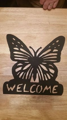 Metal Butterfly Welcome Sign by BoormansCreations on Etsy