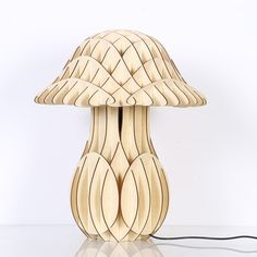 2016 Wood mushrrom table lamp, table lamp for home decoration Table Lamp Wood, Wood Lamps, Bedside Lamp, Desk Lamp, Laser Cut Lamps, Wood Gifts, Natural Wood, Accent Decor, Lights
