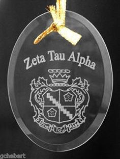 Your Sorority Crest Symbol Beveled Crystal Ornament New | eBay