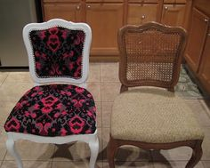 for all things creative!: Before and After: Thrift Store Chair! (And TUTORIAL) for all things creative!: Before and After: Thrift Store Chair! (And TUTORIAL) Furniture Fix, Refurbished Furniture, Repurposed Furniture, Furniture Projects, Furniture Makeover, Chair Makeover, Street Furniture, Upholstered Furniture, Rustic Furniture