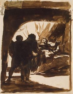 Author: Francisco Goya History Painting, Drawings, Pen, brush and ferro-gall ink, 17.4x13.5 cm Origin: Spain, Between 1812 and 1823 Personage: Jacob Source of entry: formerly in the collection of Otto Gerstenberg, later his daughter's, Margarete Scharf, Berlin Theme: The Bible and Christianity Transferred from Germany after World War II