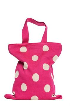 ♥ hansel from basel's polka dot bag / Navy blue dots for 4th of July with red satin ribbon
