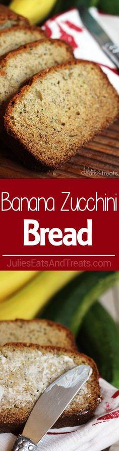 Banana Zucchini Bread ~ Incredibly Moist, Easy and Loaded with Banana and Zucchini! ~ http://www.julieseatsandtreats.com
