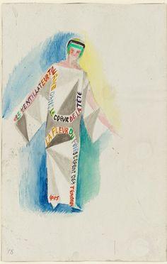 Sonia Delaunay, Dress-Poem no.1329, 1923