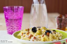 Ensalada de pasta veraniega  http://www.directoalpaladar.com/recetas-de-pasta/ensalada-de-pasta-veraniega-receta
