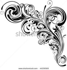 Fancy Scroll Designs | Swirl Floral Design Stock Vector 44339569 : Shutterstock