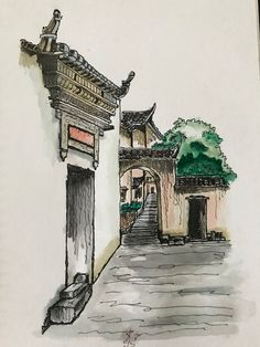 Huizhou  Watercolor (my first try)