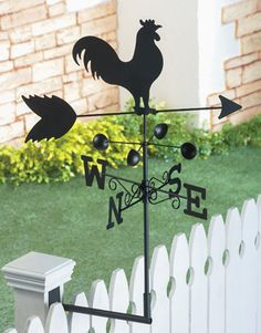 Rooster Fence Post Weathervane