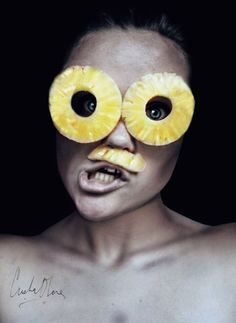 Selfpotrait with fruits by Cristina Otero