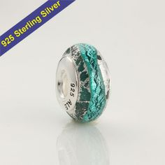 Special Murano Glass Bead Animals Bird Charm Sterling Silver Core for Bracelet J