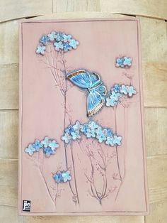 Wonderful floral wall plaque in ceramic from Sweden