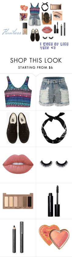 """""""Going to a Party <3"""" by kaylahannapipkin ❤ liked on Polyvore featuring LE3NO, Vans, New Look, Lime Crime, Urban Decay, Bobbi Brown Cosmetics, Burberry, NARS Cosmetics and flawless"""