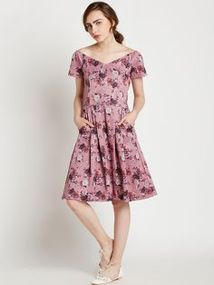 1d937c8d2f Buy COVER STORY Women Pink Printed A Line Dress - Dresses for Women 2048227  | Myntra