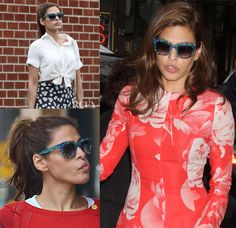 Eva-Mendes'Thierry-Lasry 'Obsessy' Printed Sunglasses