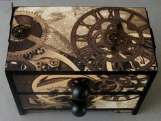 Steampunk Clocks Decorative Chest-