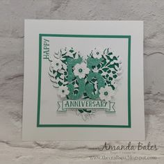 The Craft Spa - Stampin' Up! UK independent demonstrator : Emerald Envy Anniversary for Stampers Showcase