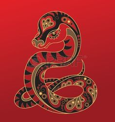 Chinese Horoscope Year of the snake Stock Photo