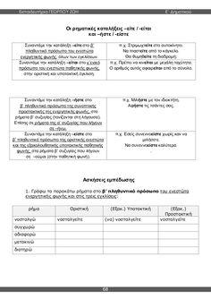 γλώσσα ε'δημοτικού β'τεύχος Grammar, Sheet Music, Greek, English, Education, School, Greek Language, Music Score, Schools