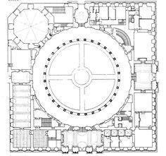 Granada. Spain. Plan Palacio de Carlos V #architecture #Circle