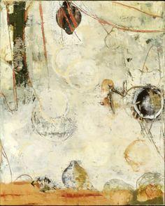 Encaustic Artist Mary Black - Encaustic Art Mixed Media on Birch Panel - Foul Play