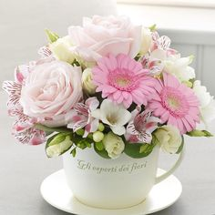 Same day flower delivery Heybridge Maldon by Flowers By Sarah Ann Florist your local flower shop, send flowers, wedding flowers & funeral flowers. Teacup Flowers, My Flower, Silk Flowers, Beautiful Flowers, Cut Flowers, Deco Floral, Arte Floral, Floral Design, Mothers Day Flowers