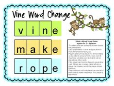 Freebie Silent e Word Change Board Game by Games 4 Learning is a printable board games to practice reading, identifying and creating words with silent e inlcuding a_e, i_e and o_e. Enjoy!