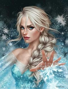 Realistic Elsa! Freaked out for a second because something in her face made me think of my aunt, who used to sing with Trans-Siberian Orchestra, and she would always sing the song QUEEN OF THE WINTER NIGHT.