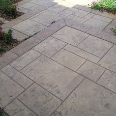 Stamped Concrete Patio Design with Border