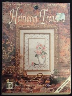 Designs For The Needle Heirloom Treasure Cross Stitch Kit PEACH FLORAL Sealed in Kits | eBay