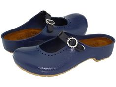 New Ladies Women Naot Mika Slide Mule Clog Shoe Electronic Blue Patent Size 38 7 #Naot #Clogs