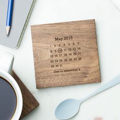 Personalised Never Forget Coaster | Create Gift Love £12  Never forget a special date with this beautifully personalised wooden coaster. A wonderful way to commemorate an unforgettable day!  http://www.creategiftlove.co.uk/collections/personalised-valentines-day-gifts/products/personalised-never-forget-coaster  #valentinesgifts #personalised #creategiftlove