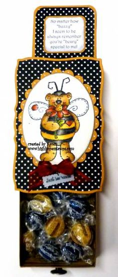 Bumble Bear Slider box by *1 wacky woman* - Cards and Paper Crafts at Splitcoaststampers