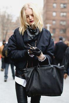 black dark fashion