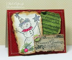 Stampendous Magical Snowman Holiday Card