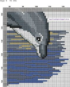 Precioso gráfico de dos delfines saltando... Cross Stitch Sea, Cross Stitch Geometric, Cross Stitch Borders, Cross Stitch Animals, Modern Cross Stitch, Cross Stitch Charts, Cross Stitch Designs, Cross Stitching, Cross Stitch Embroidery