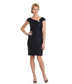 d7a30979abf London Times Portrait-Collar Shutter Dress