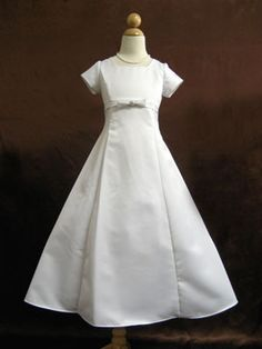 Junior Brides Maid Dress - with bow