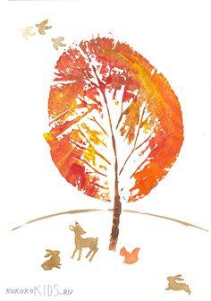 Manualidades para niños de cara al otoño. Manualidades infantiles.