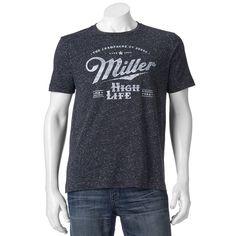 Men's Miller High Life Tee, Brown Over